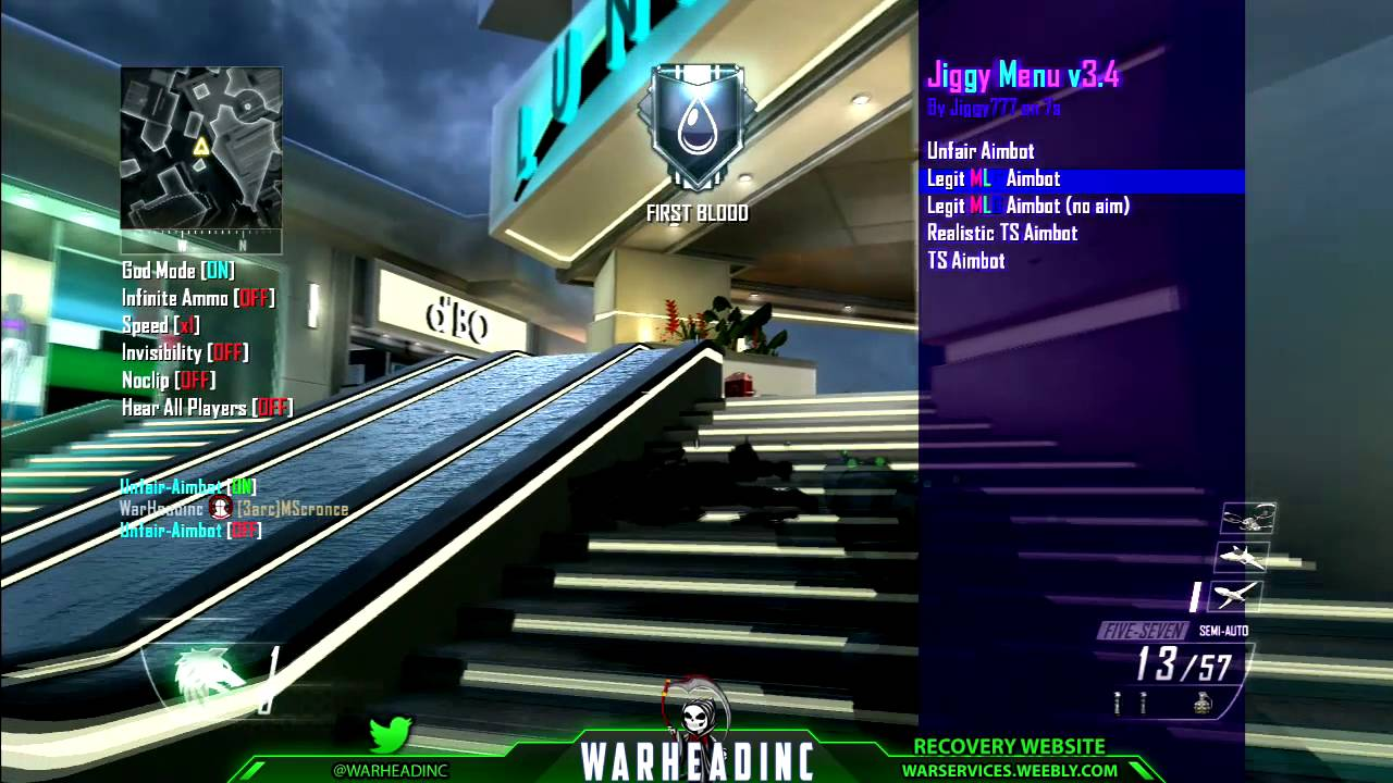 Jiggy v3 4 Black Ops 2 GSC Mod Menu +Download