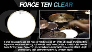 Force 10 Clear Drumheads