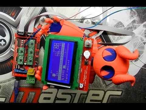 RAMPS 1 4, Arduino MEGA, ШД и экран.  Сборка и прошивка.