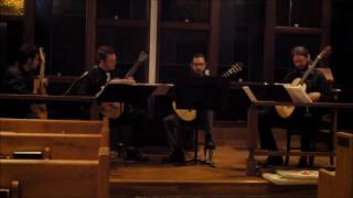 University of Kentucky Graduate Guitar Quartet performing Juan Trigos' quartet