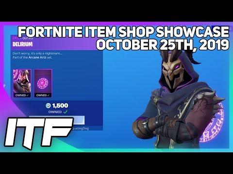 Fortnite Item Shop *NEW* A LOT OF NEW STUFF! [October 25th, 2019] (Fortnite Battle Royale)