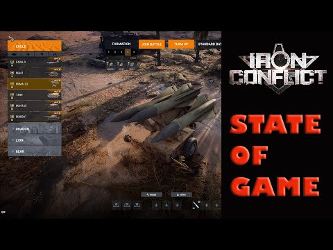 Iron Conflict state of the game - Patch 005 - Bug fixes that you will see if you get into the game |