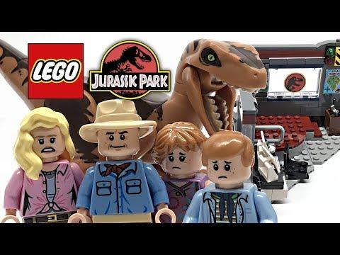 Download Youtube: LEGO Jurassic Park Velociraptor Chase review! 2018 set 75932!