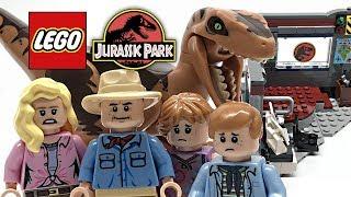 LEGO Jurassic Park Velociraptor Chase review! 2018 set 75932!