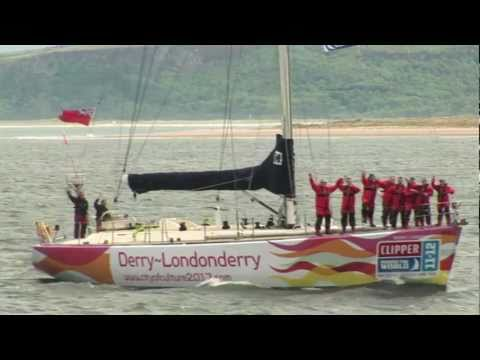 The Derry~Londonderry yacht arrives in the city