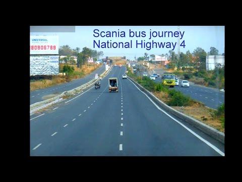 Bus Travel   Pune Bangalore   Airavat Scania   National Highway 4