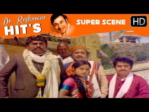 Rajakumar Insult Vajaramuni Scenes | Sampathige Saval - Old Kannada Movie | Scene 02