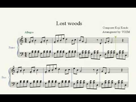 Lost Woods Piano Sheet Music
