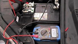 Vérification de l'état d'une Batterie & de l'alternateur part  1~2