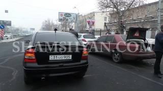 Շղթայական ավտովթար Երևանում  բախվել են  2 Opel ներ, Nissan, Mercedes, ГАЗ 31 և Peugeоt