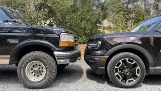 homepage tile video photo for Would You Rather: 2021 Bronco Sport Outer Banks or 1993 Bronco Eddie Bauer?