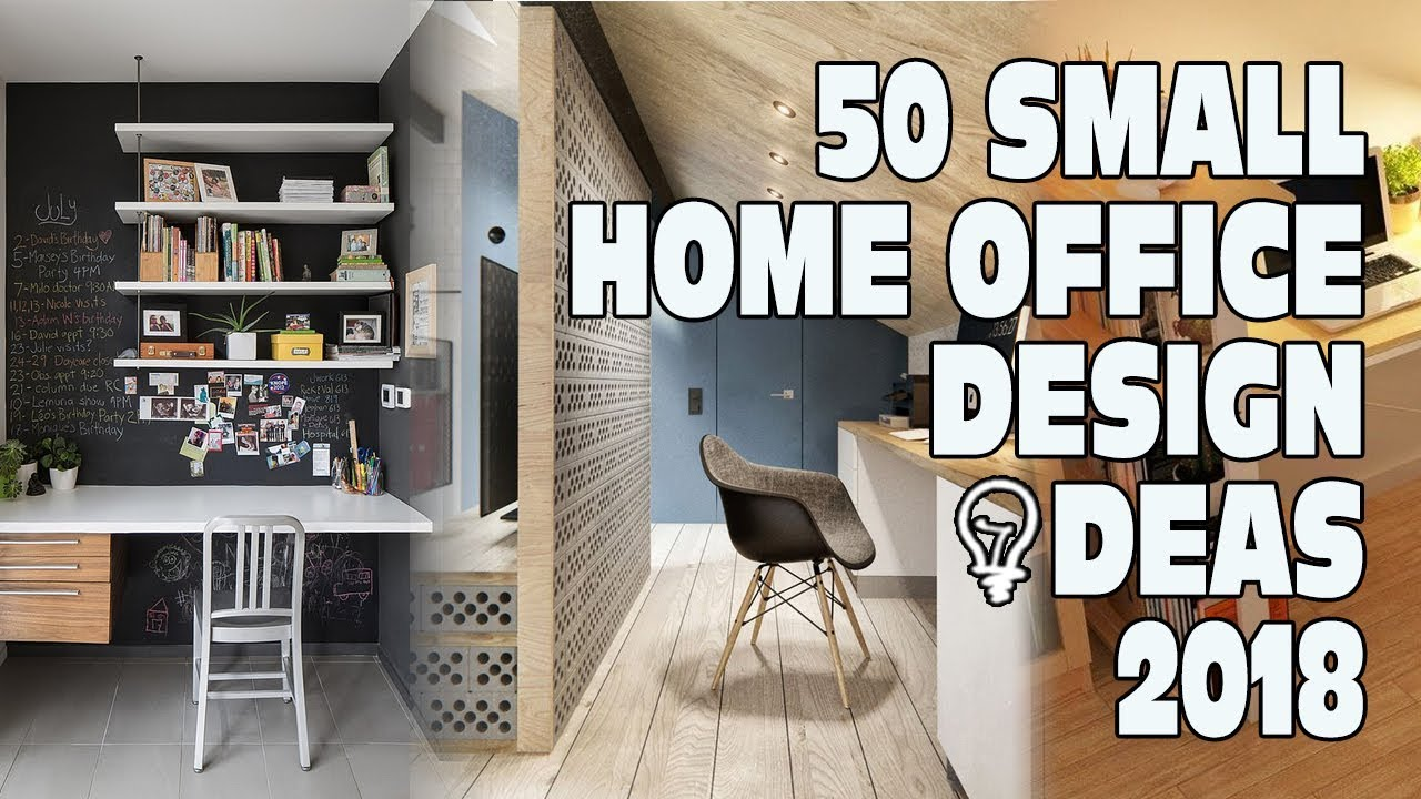 spacious room home offices designs ideas | 50 Small Home Office Design Ideas 2018 - YouTube