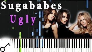 Sugababes - Ugly [Piano Tutorial] Synthesia | passkeypiano