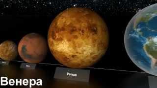 Сравнение размеров небесных тел  Русская версия