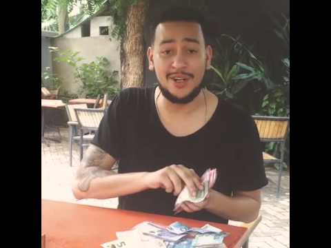 AKA Shows Off His Wealth In Tanzanian Money!