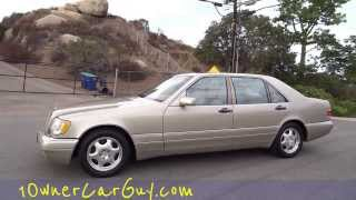 1999 Mercedes Benz S320 W140 3.2L Big Body Saloon Test Drive Walkaround Video