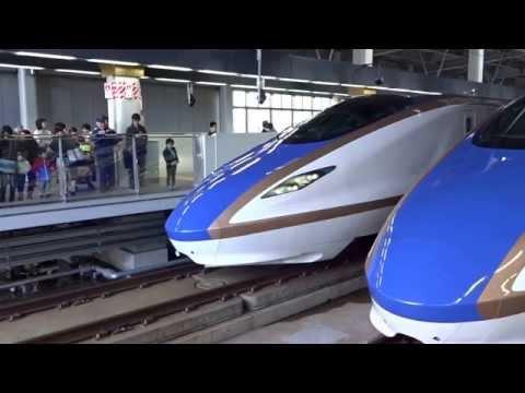 Hokuriku Shinkansen departing from Kanazawa Station
