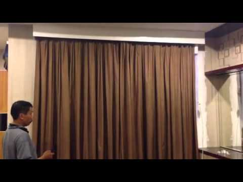 motorized curtain track - youtube