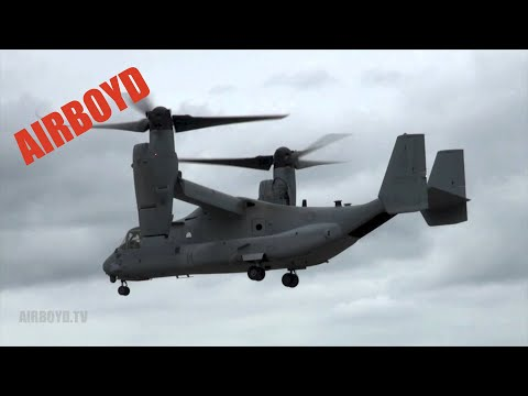 V-22 Osprey Demonstration - Farnborough 2012 (Monday)