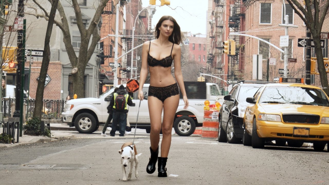 Emily Ratajkowski führt in New York halbnackt einen Hund Gassi - #GoodMorningDKNY
