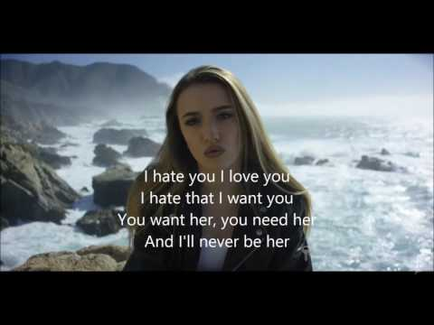 I hate u i love u- gnash (letra)