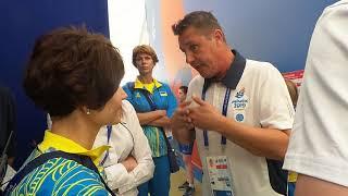 Европейские игры-2019. Шеф миссии НОК Украины общается с тех. делегатом из-за судейства в баскетболе