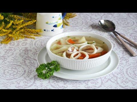 ГОТОВЛЮ ЧАСТО! 💖 Суп с кальмарами 👍 СУПЧИКУ НЕТ РАВНЫХ!