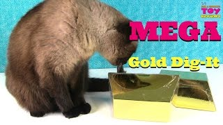 Giant Mega Gold Dig It Digging For Gold With Simon The Cat | PSToyReviews