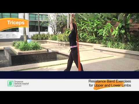 Exercising with a Physio Theraband - Reel Health #21