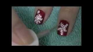 DIY Snowflake NAIL ART Thumbnail