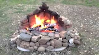 Rock Fire Pit On A California Ranch