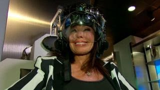 Judge Jeanine goes for a ride in a flight simulator
