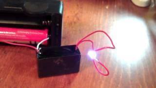 High voltage generator 7000 Volts. Chinese module. 18650, 3.7V, spark, lightning 10mm. RUS