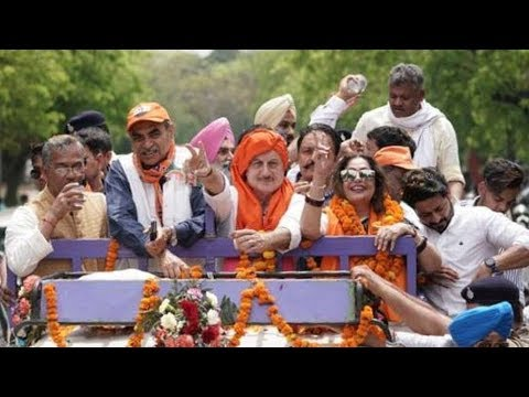 Anupam Kher campaigns for wife Kirron Kher in Chandigarh
