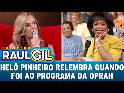 Helô Pinheiro relembra sua entrevista dada à Oprah Winfrey | Programa Raul Gil (01/04/17)
