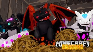 BABY ALPHA DRAGONS ARE BORN....BUT THERE'S A PROBLEM! - Minecraft Dragons