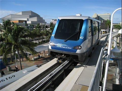 Бесплатный воздушный трамвай (Metro Mover) в Майами / Free Metro Mover  in Miami