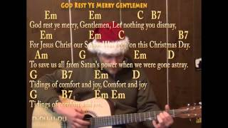 God Rest Ye Merry Gentlemen (Christmas) Strum Guitar Cover Lesson with Lyrics - Chords