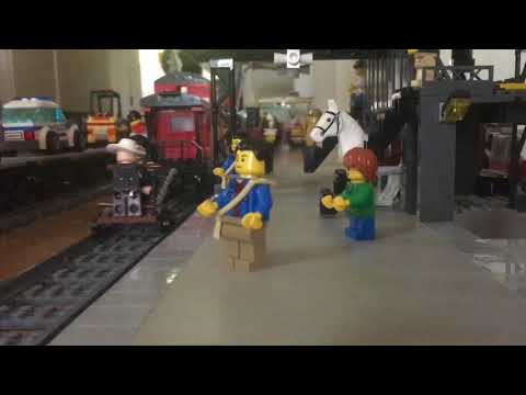 LEGO steam freight train with sound effects