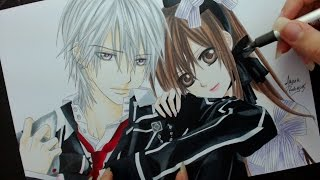 Speed Drawing - Zero and Yuuki (Vampire Knight)
