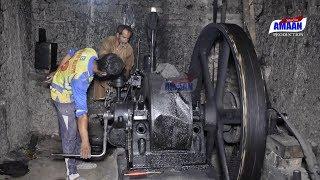 Best Starting Old Black Engine Japani Beutifull Voice |Ruston Hornsby Engine Start-Up|Diesel engine