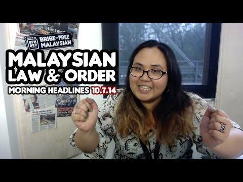 Malaysian Law & Order [Morning Headlines]