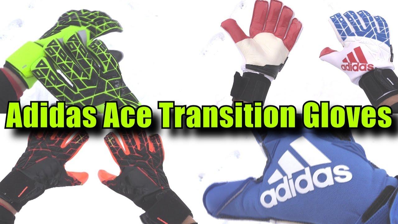 fácil de lastimarse difícil Caracterizar  Adidas Ace Trans Goalkeeper Gloves - YouTube