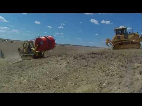 TerraSpan Utility Plow Train   Fiber Duct Plowing   Eastern Wyoming  Komatsu Cable Plow2