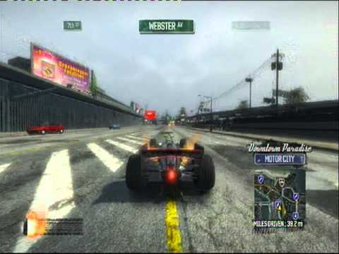 Me getting the police F1 - Burnout Paradise Gameplay