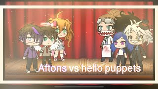 Hello puppets vs afton kids singing battle
