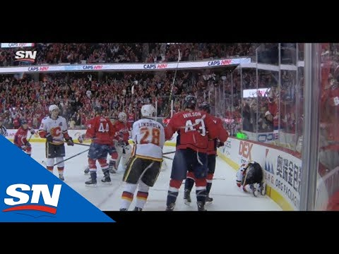Fights Break Out After Nicklas Backstrom Levels Johnny Gaudreau With Cheap Shot