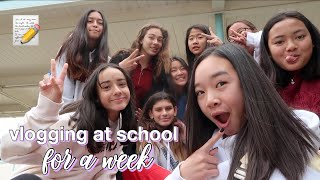 vlogging at school FOR A WEEK #2 | Nicole Laeno