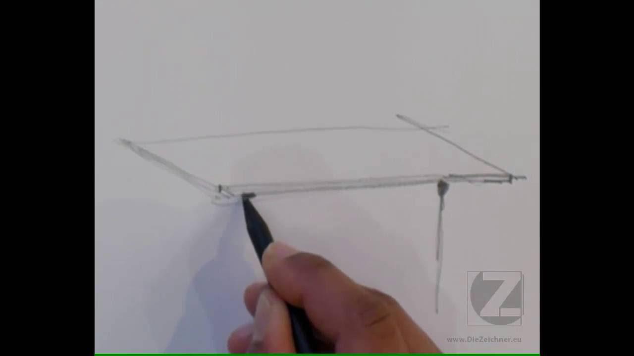 Ein Eiermann Tischgestell Mit Hocker Zeichnen Youtube