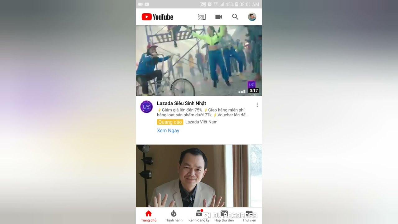 Tắt thông báo của Youtube trên điện thoại và email